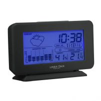 London Clock Company 05194 Black Weather Forecaster